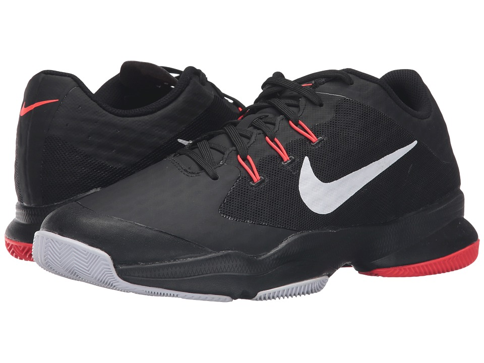 Nike - Air Zoom Ultra (Black/Bright Crimson/Metallic Silver) Men's Tennis Shoes