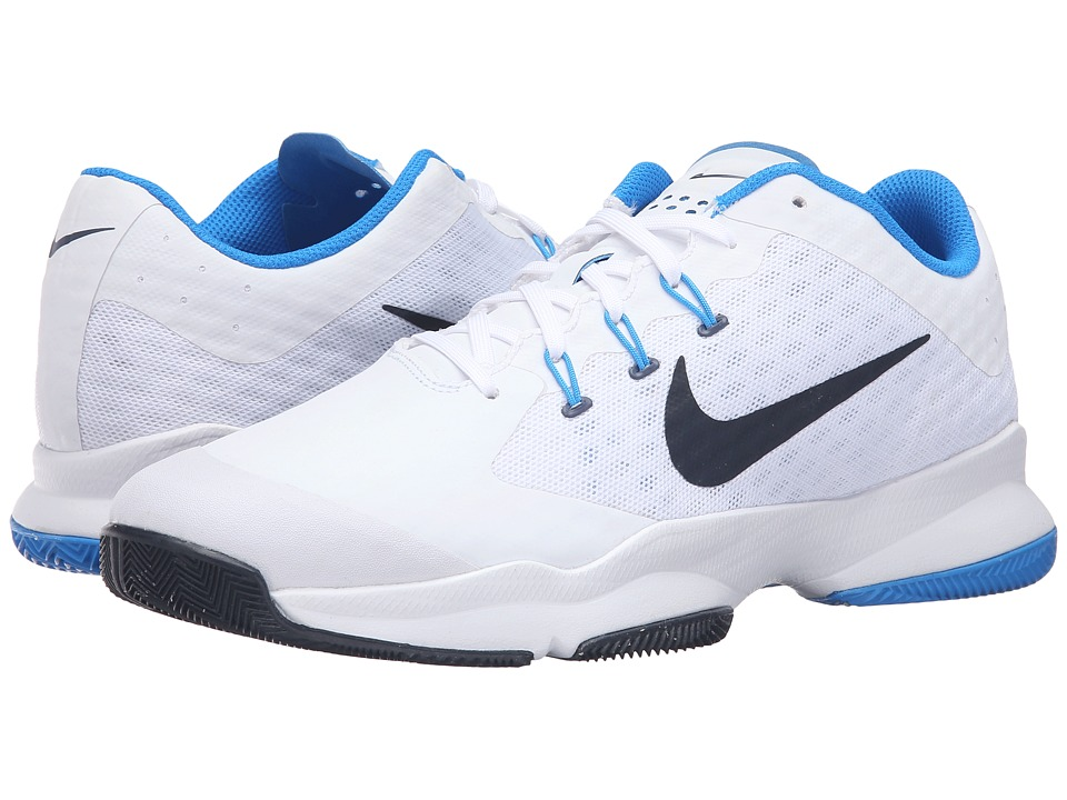 Nike - Air Zoom Ultra (White/Photo Blue/Obsidian) Men's Tennis Shoes