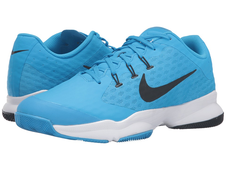 Nike - Air Zoom Ultra (Blue Glow/White/Black) Men's Tennis Shoes