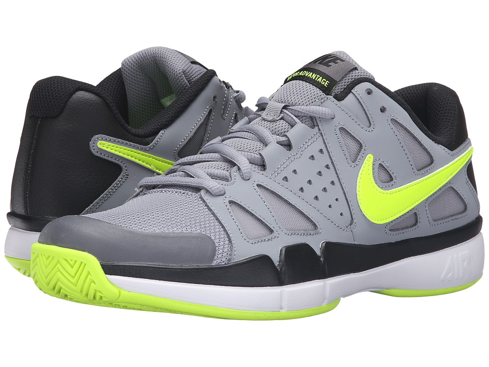Nike - Air Vapor Advantage (Stealth/Black/Dark Grey/Volt) Men's Tennis Shoes