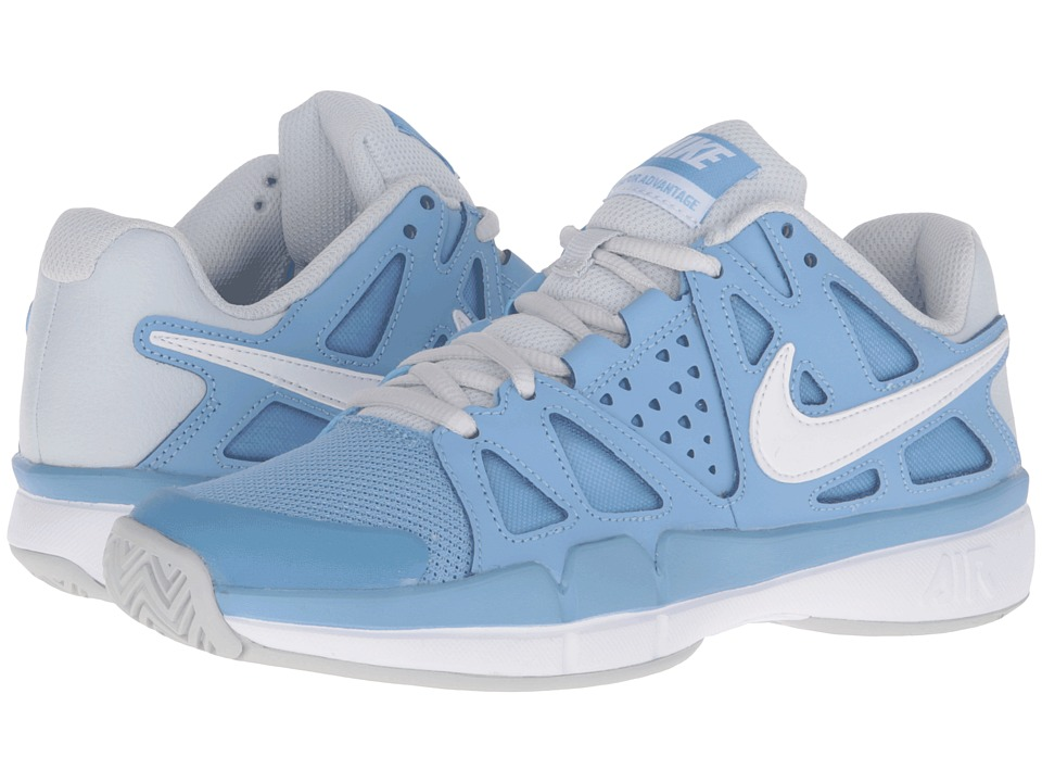 Nike - Air Vapor Advantage (Light Blue/Pure Platinum/White) Women's Tennis Shoes