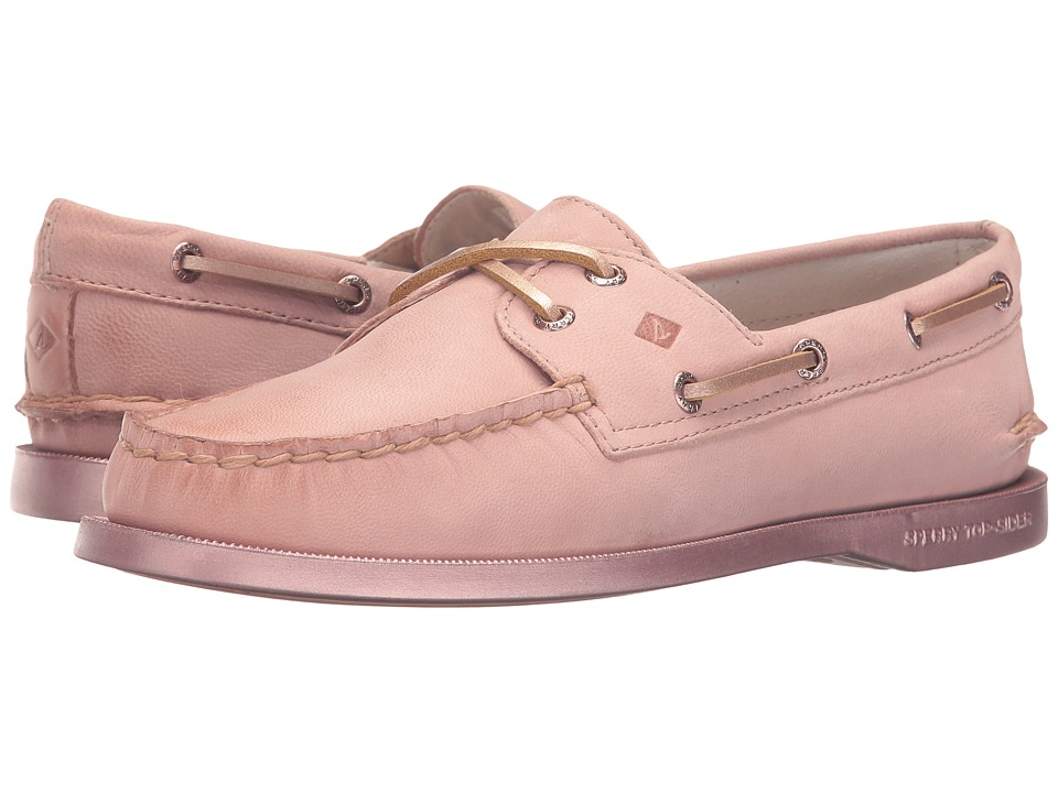 Sperry - A/O 2-Eye Bling (Rose Gold) Women's Lace Up Moc Toe Shoes