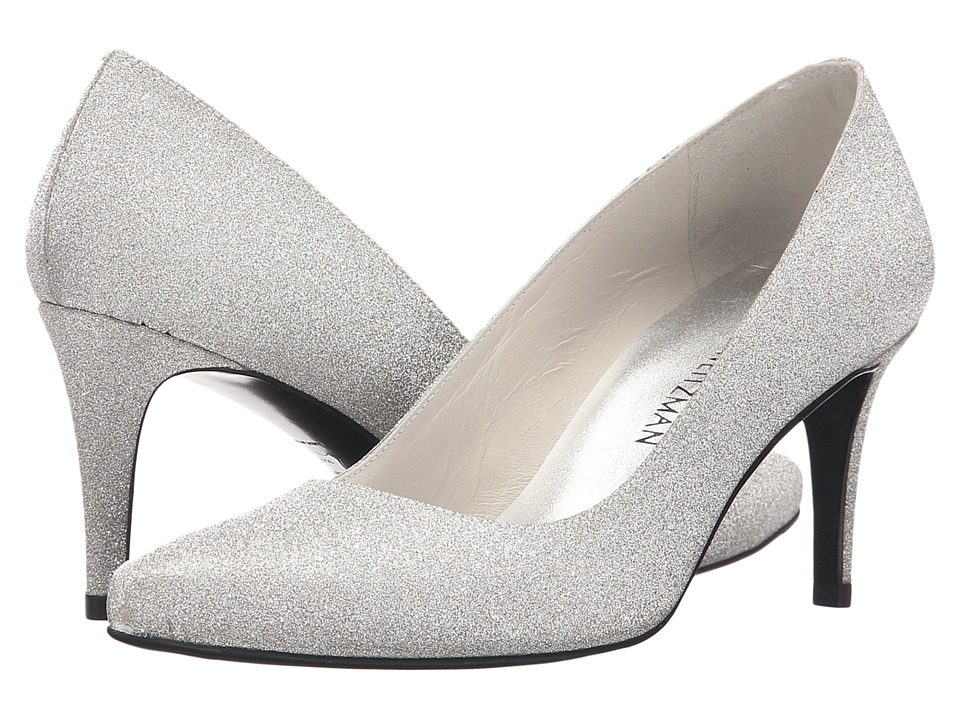 Stuart Weitzman Bridal & Evening Collection Tessa (Argento Glitterati) High Heels