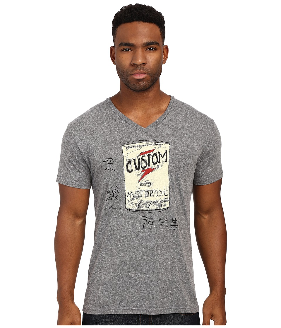 Custom Ketchup - Custom Oil Top (Grey) Men's Short Sleeve Pullover