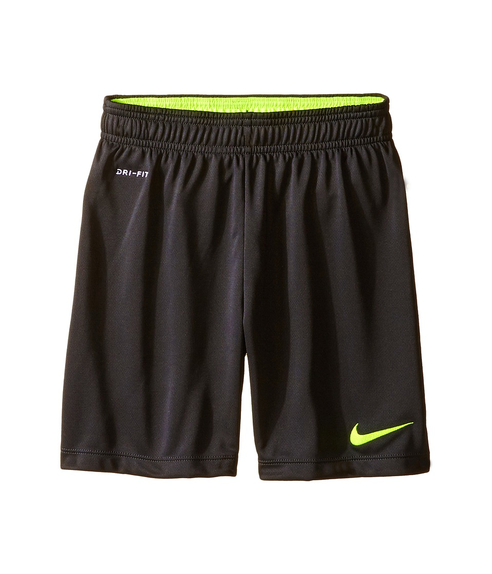 Nike Kids - Academy Longer Knit Short 2 (Little Kids/Big Kids) (Anthracite/Volt/Volt) Boy's Shorts