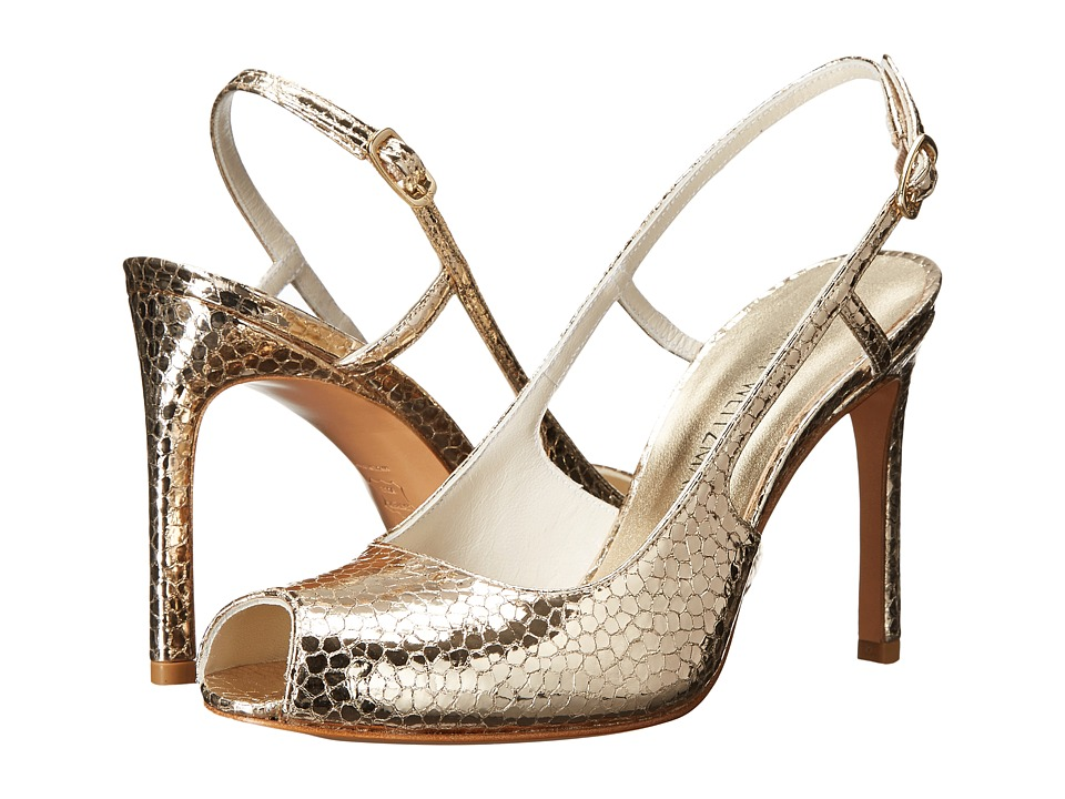 Stuart Weitzman Bridal & Evening Collection Truelove (Bright Gold Shatter Nappa) High Heels