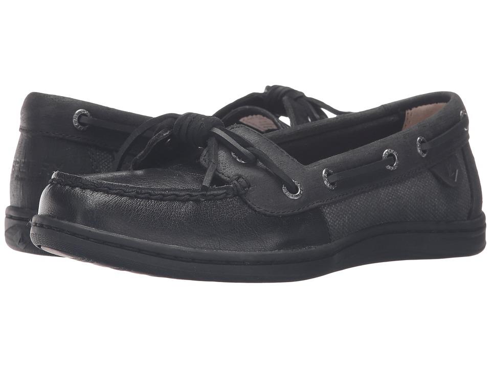 Sperry - Barrelfish (Black) Women's Lace Up Moc Toe Shoes