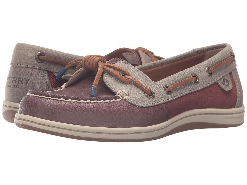 Sperry - Barrelfish (Rust) Women's Lace Up Moc Toe Shoes