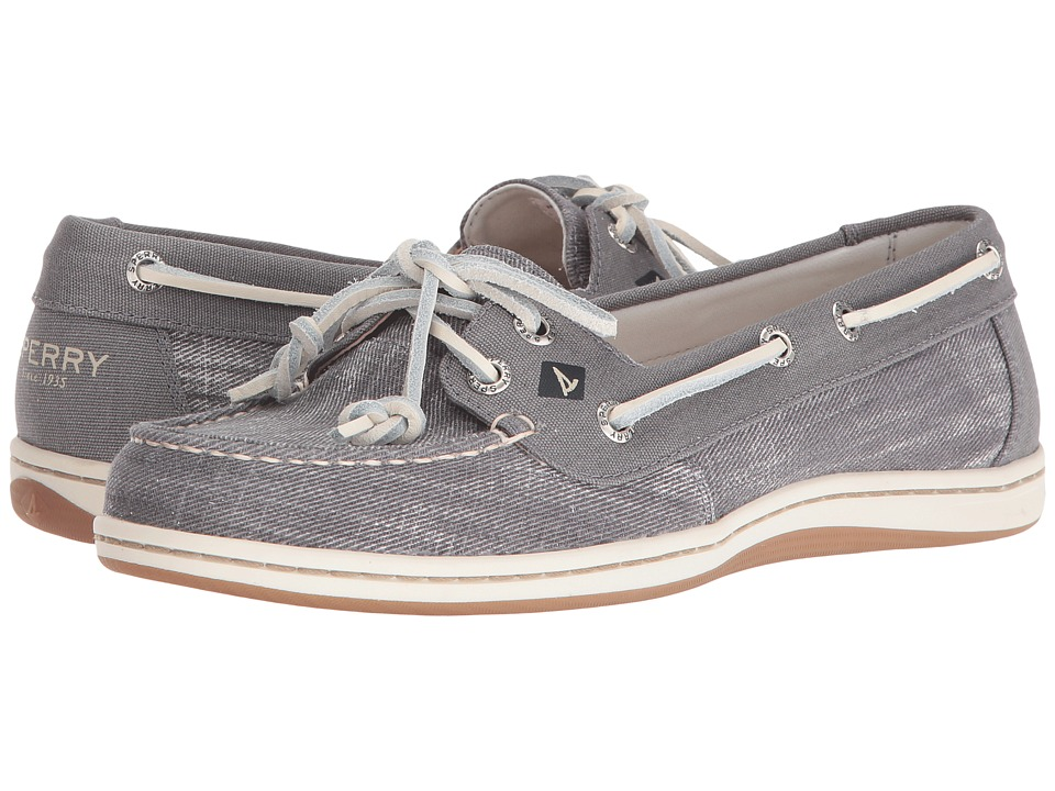 Sperry Top-Sider - Firefish Ripstop Canvas (Medium Grey) Women's Lace Up Moc Toe Shoes