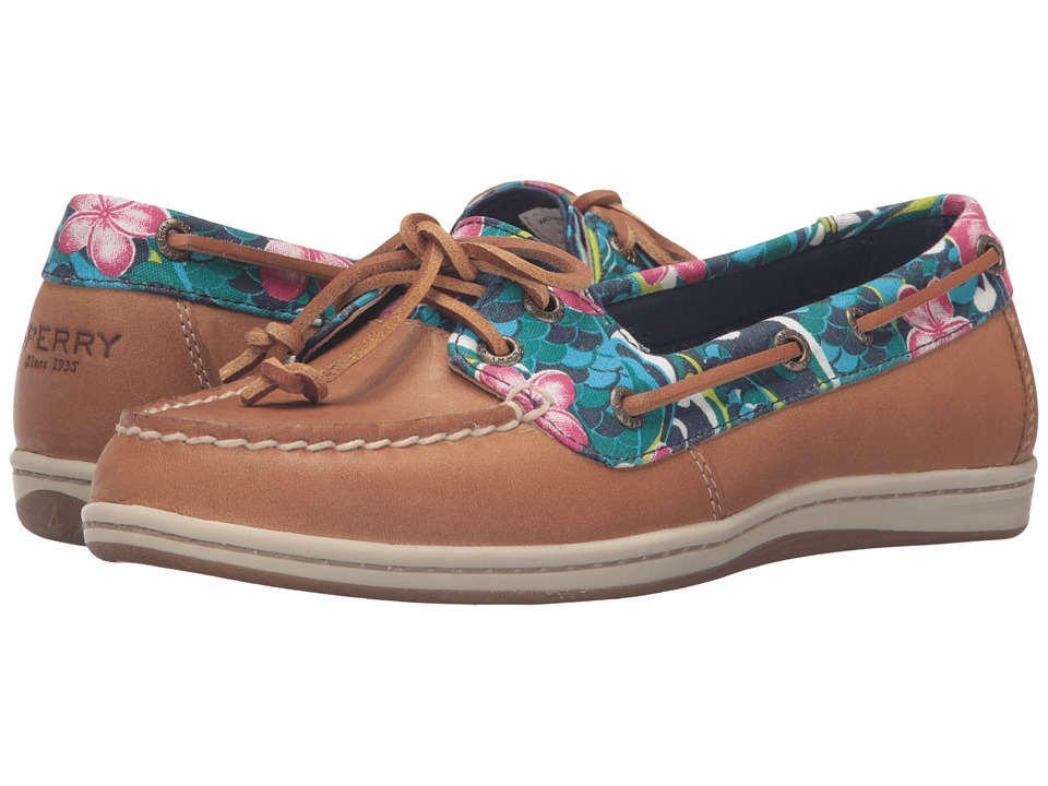Sperry Firefish Floral (Tan/True Blue) Women