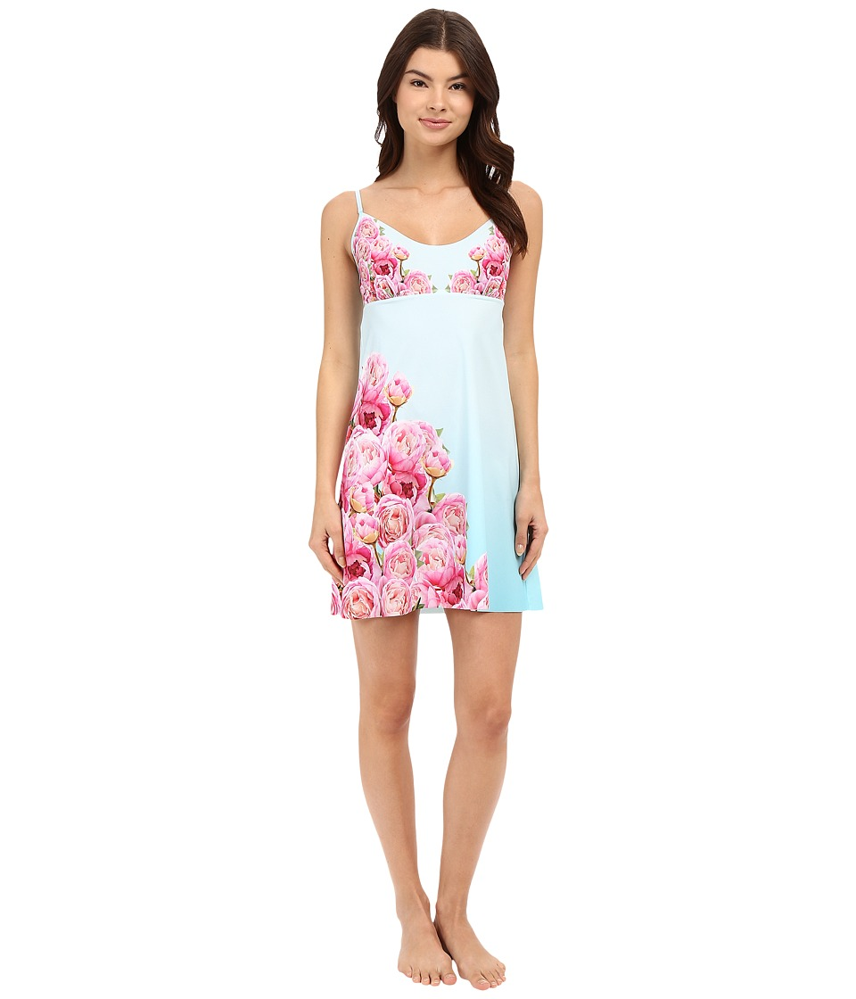 Commando - Engineered Print Chemise SL208 (Peony Photo-Op) Women's Underwear
