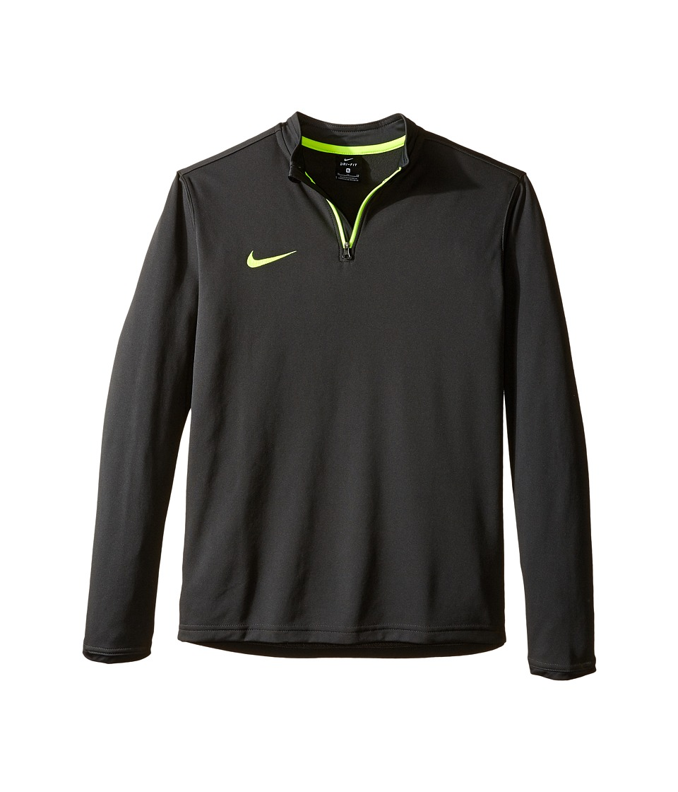 Nike Kids - Dry Academy Soccer Drill Top (Little Kids/Big Kids) (Anthracite/Volt/Volt) Boy's Clothing
