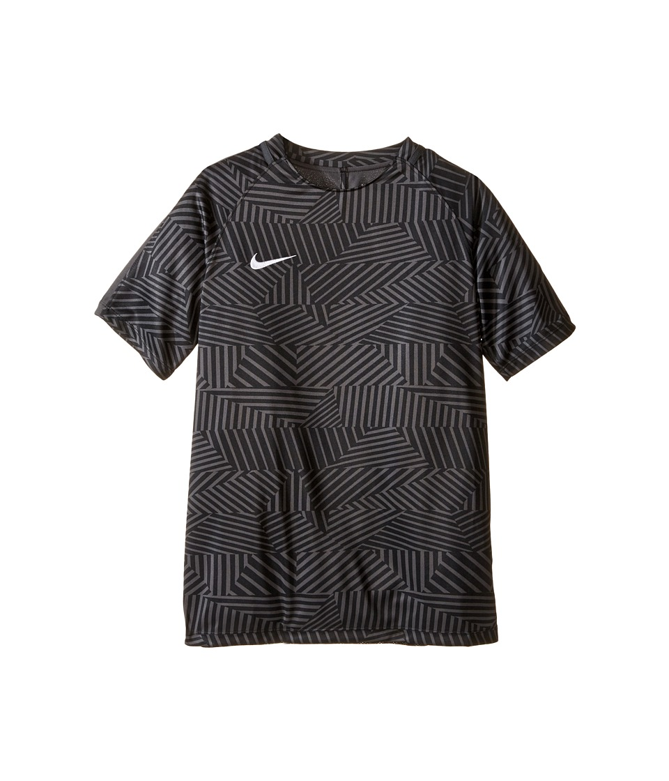 Nike Kids - Dry Squad Short Sleeve Soccer Shirt (Little Kids/Big Kids) (Black/Anthracite/White) Boy's Clothing
