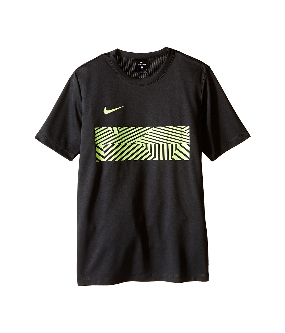 Nike Kids - Dry Academy Soccer Top (Little Kids/Big Kids) (Anthracite/Volt) Boy's Clothing