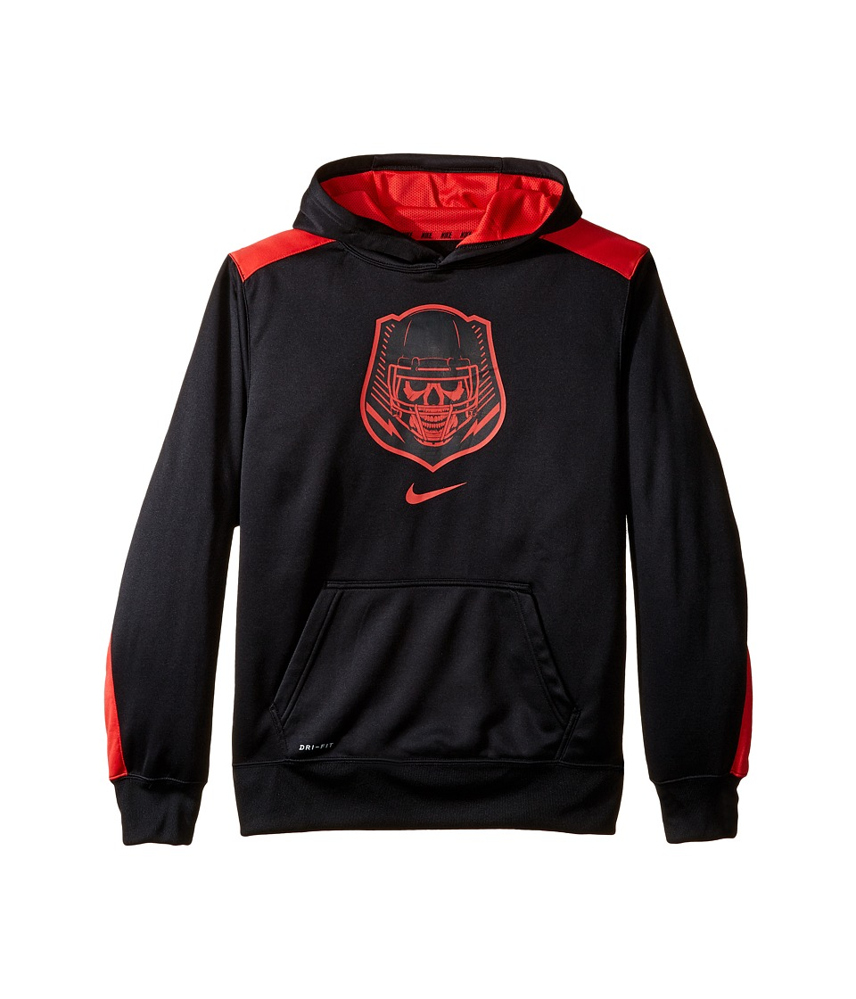 Nike Kids - Dry KO Dominator Training Hoodie (Little Kids/Big Kids) (Black/Daring Red) Boy's Sweatshirt