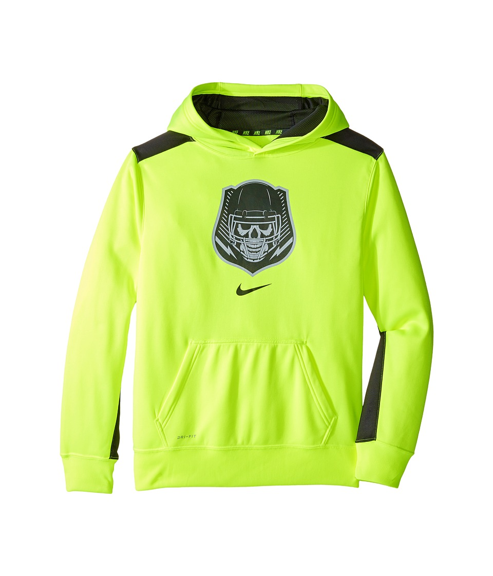 Nike Kids - Dry KO Dominator Training Hoodie (Little Kids/Big Kids) (Volt/Anthracite) Boy's Sweatshirt