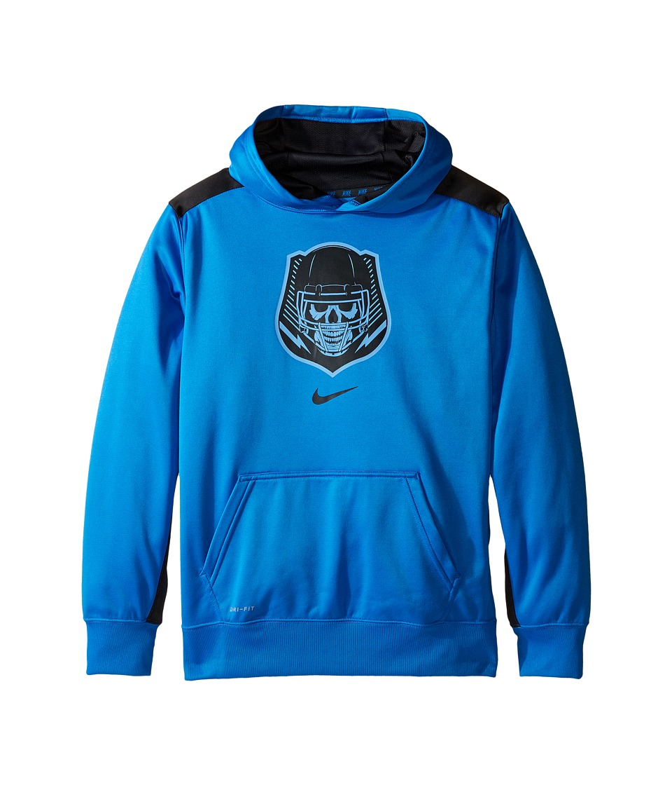 Nike Kids - Dry KO Dominator Training Hoodie (Little Kids/Big Kids) (Light Photo Blue/Anthracite) Boy's Sweatshirt