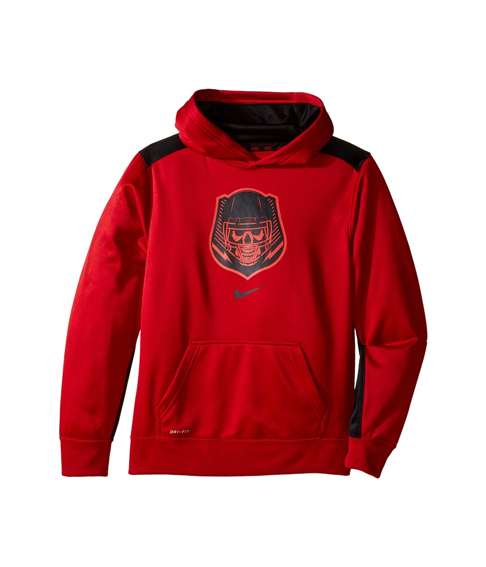 Nike Kids - Dry KO Dominator Training Hoodie (Little Kids/Big Kids) (Gym Red/Black) Boy's Sweatshirt