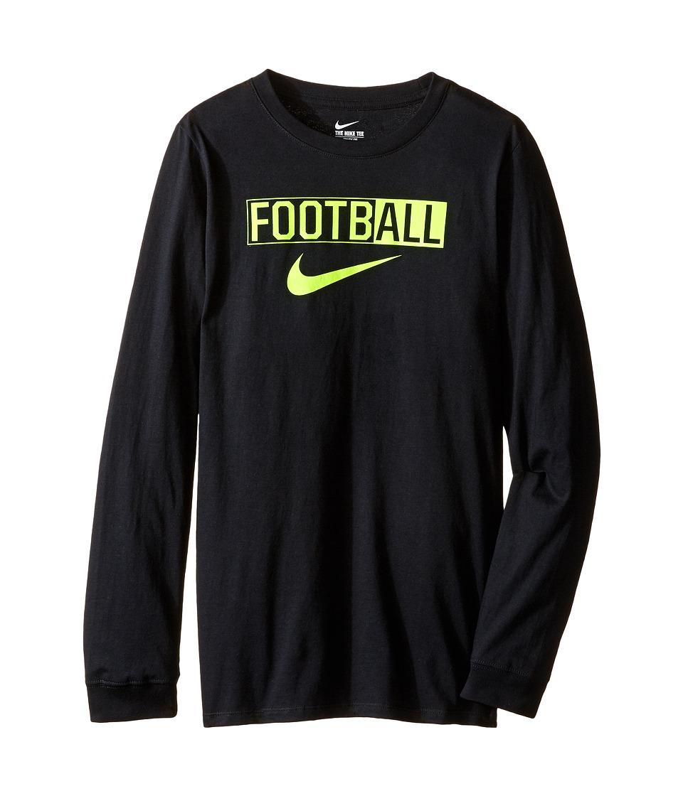 Nike Kids - All Football Training T-Shirt (Little Kids/Big Kids) (Black) Boy's Clothing