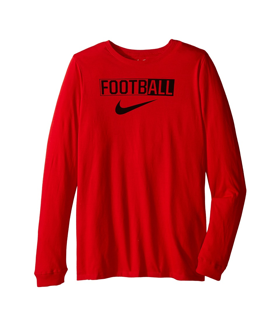 Nike Kids - All Football Training T-Shirt (Little Kids/Big Kids) (University Red) Boy's Clothing