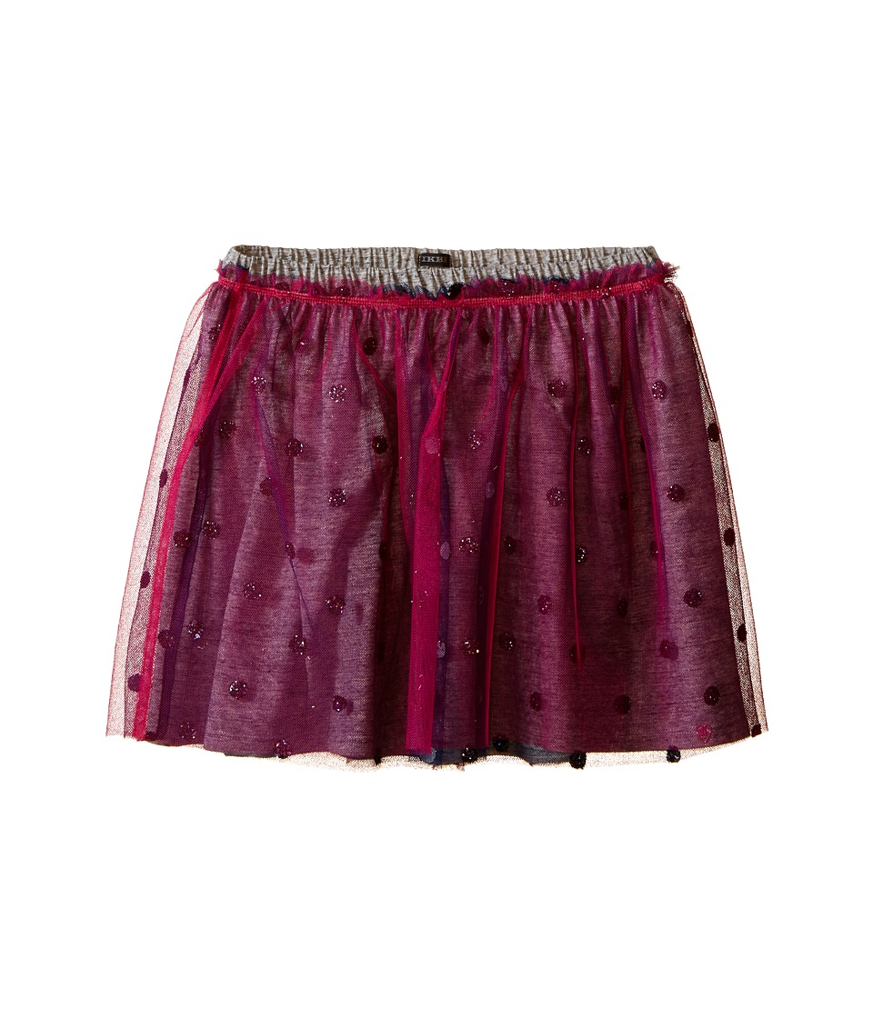 IKKS - Layered Tulle Skirt Over Jersey Fabric with Glitter Polka Dots Elastic Waistband (Little Kids/Big Kids) (Fuchsia) Girl's Skirt