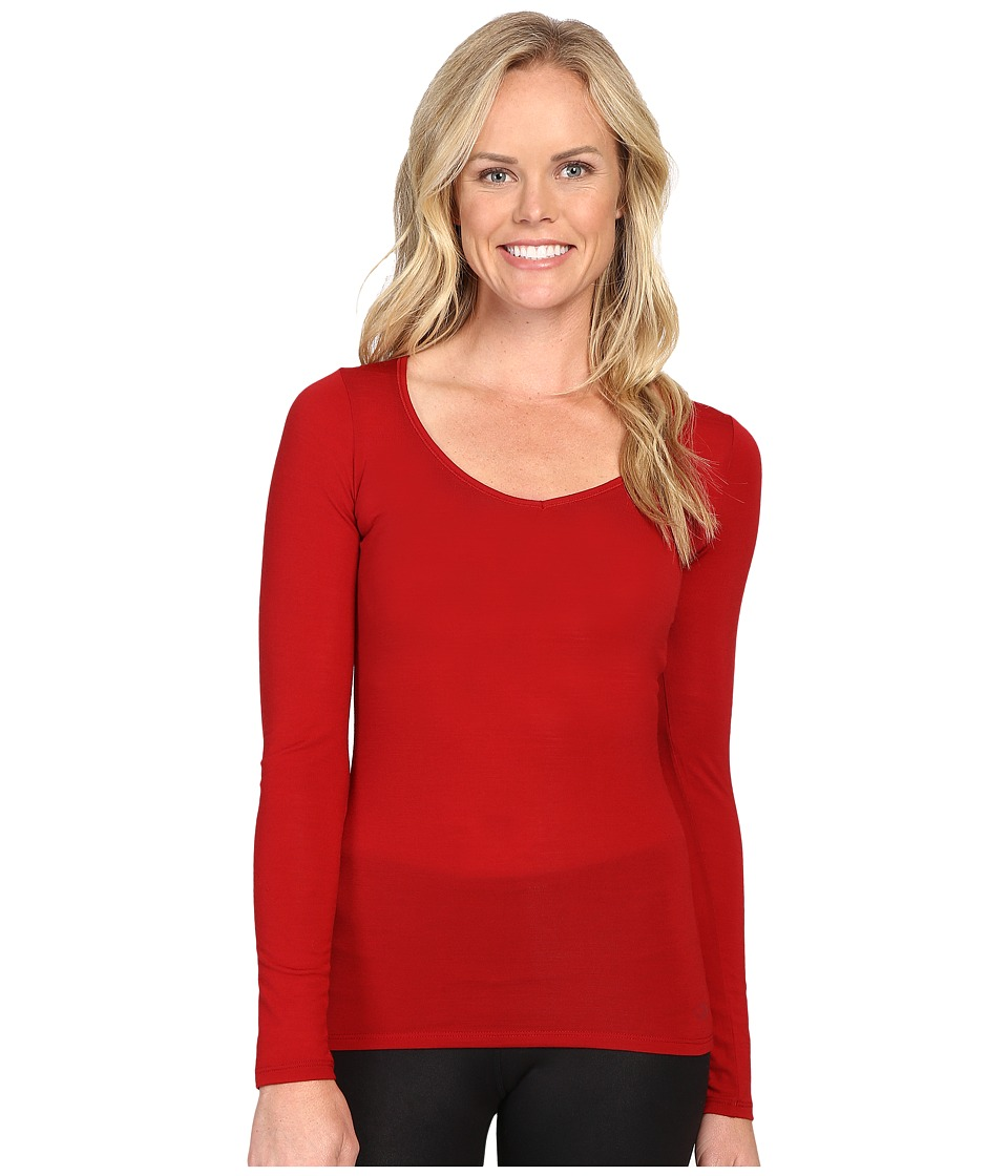 Icebreaker Siren Long Sleeve Sweetheart (Oxblood/Oxblood) Women