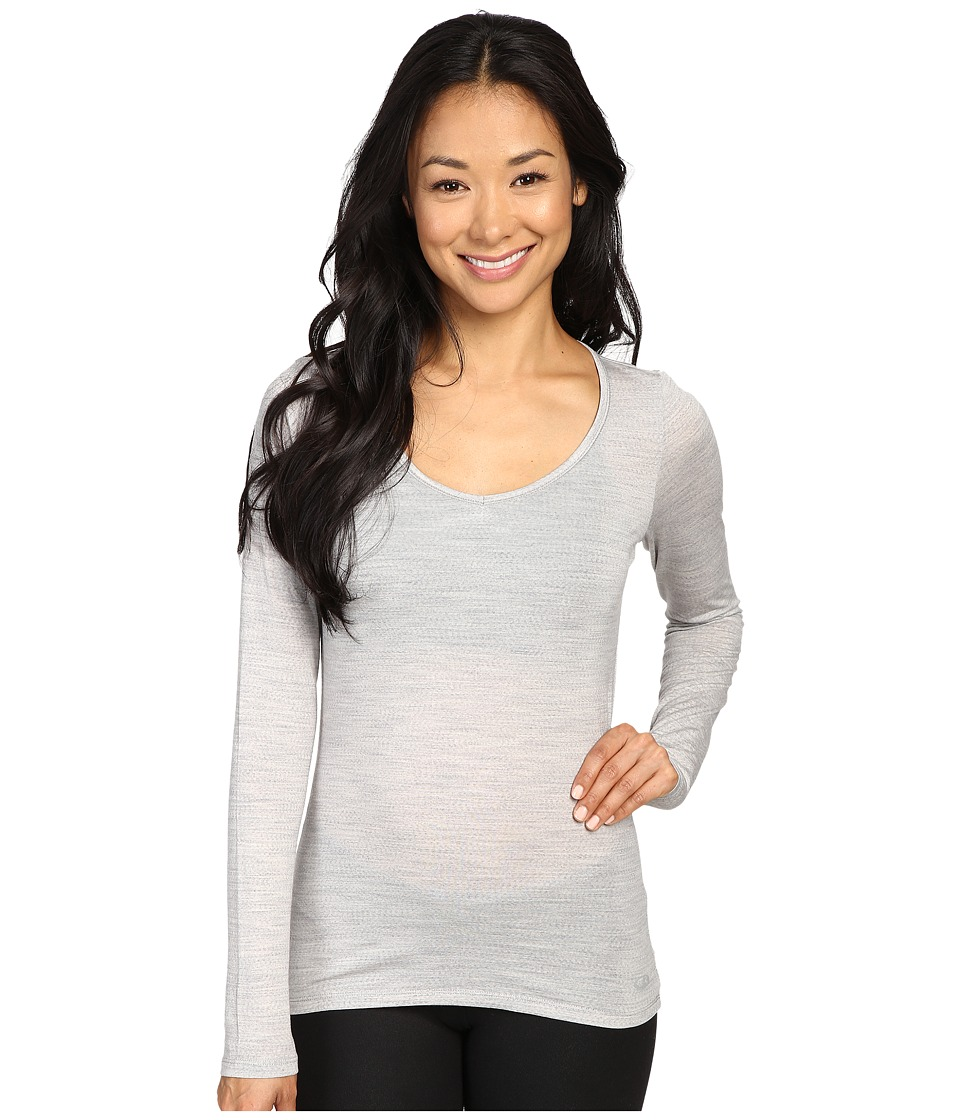 Icebreaker Siren Long Sleeve Sweetheart (Blizzard Heather/Blizzard Heather) Women