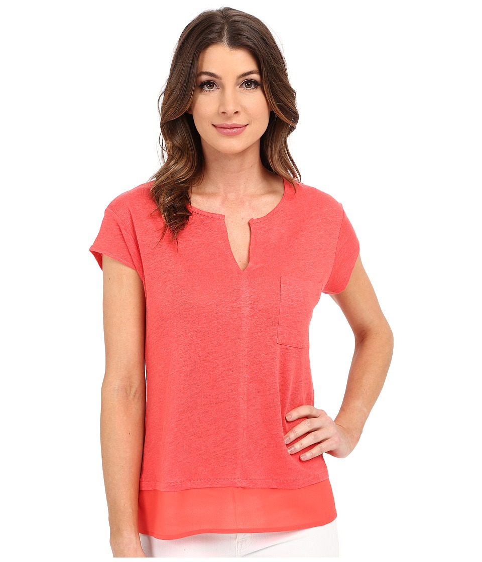Sanctuary - City Mix Tee (Liberty Red) Women's Short Sleeve Pullover
