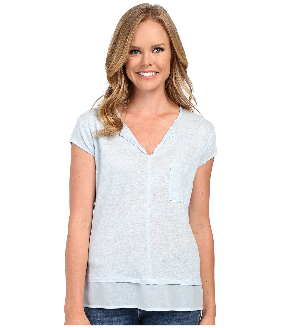 Sanctuary - City Mix Tee (Bleach Blue) Women's Short Sleeve Pullover