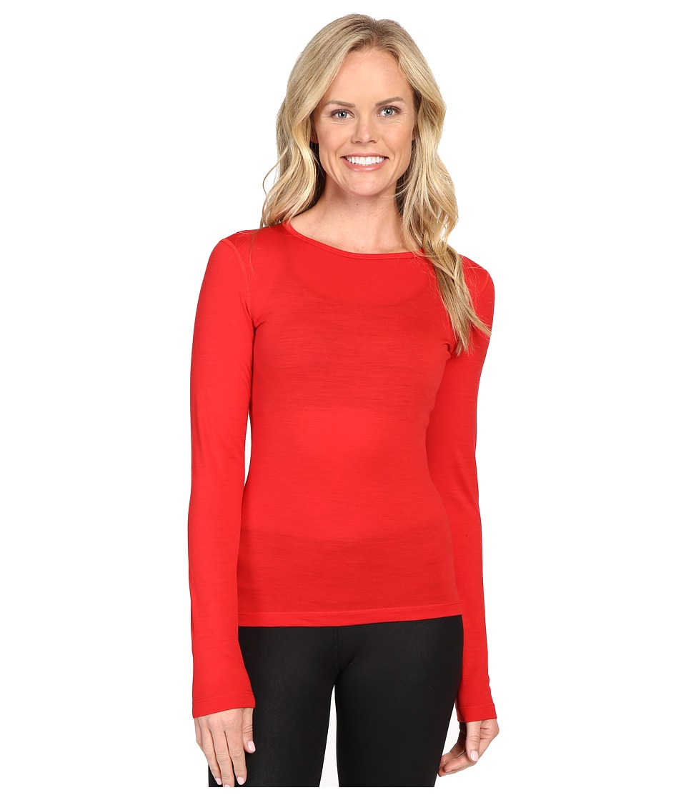 Icebreaker Oasis Long Sleeve Crewe (Rocket) Women
