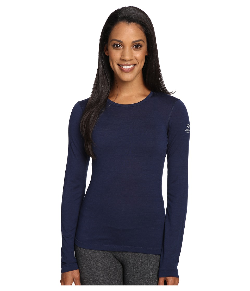 Icebreaker - Oasis Long Sleeve Crewe (Admiral) Women's Long Sleeve Pullover