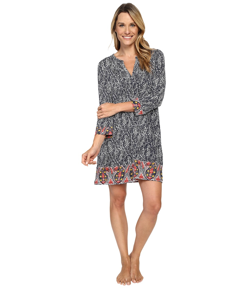 Lucky Brand - Pleated Tunic (Navy All Over) Women's Pajama