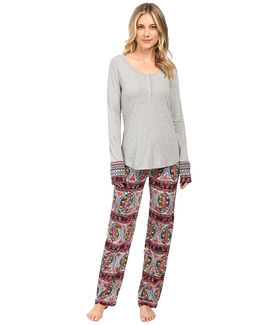 Lucky Brand - Henley Pajama (Paisley Stripes) Women's Pajama Sets
