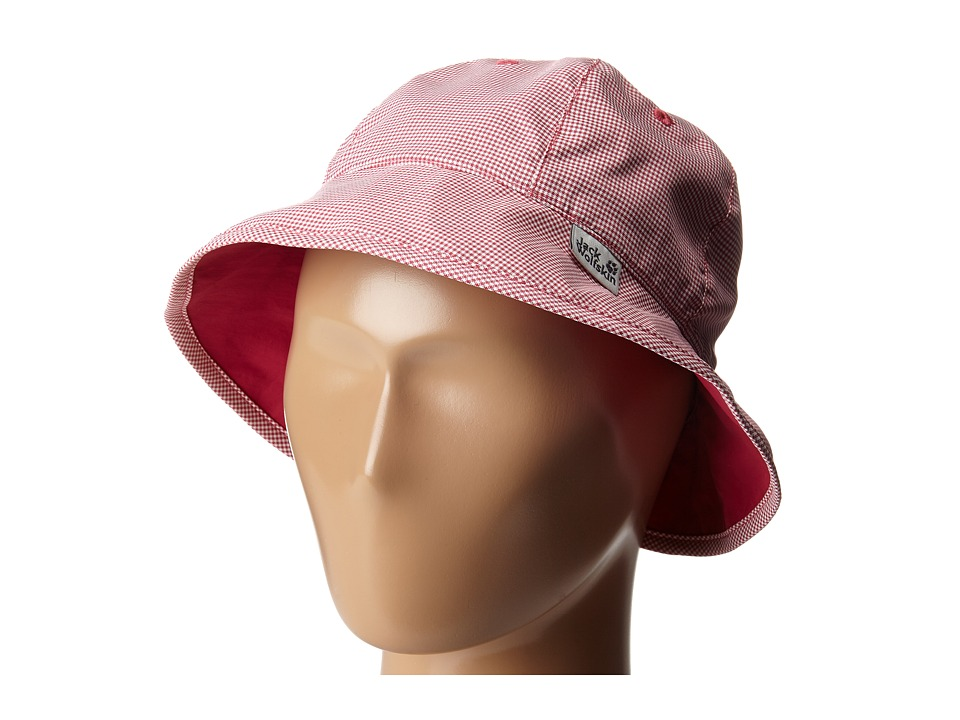 Jack Wolfskin Kids - Reversible Desert Sun Hat (Little Kid/Big Kid) (Azalea Red) Caps