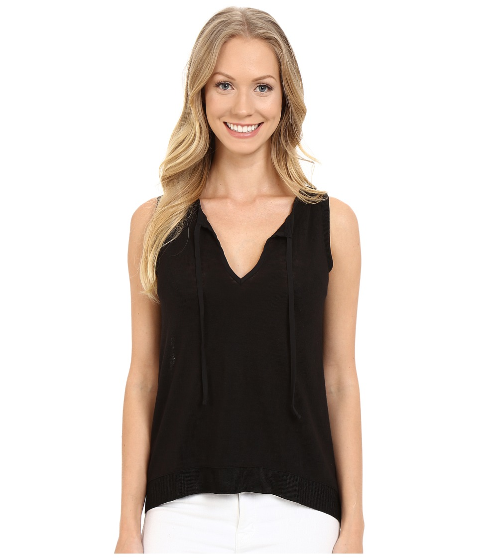 Sanctuary Clara Tie Tank Top (Black) Women