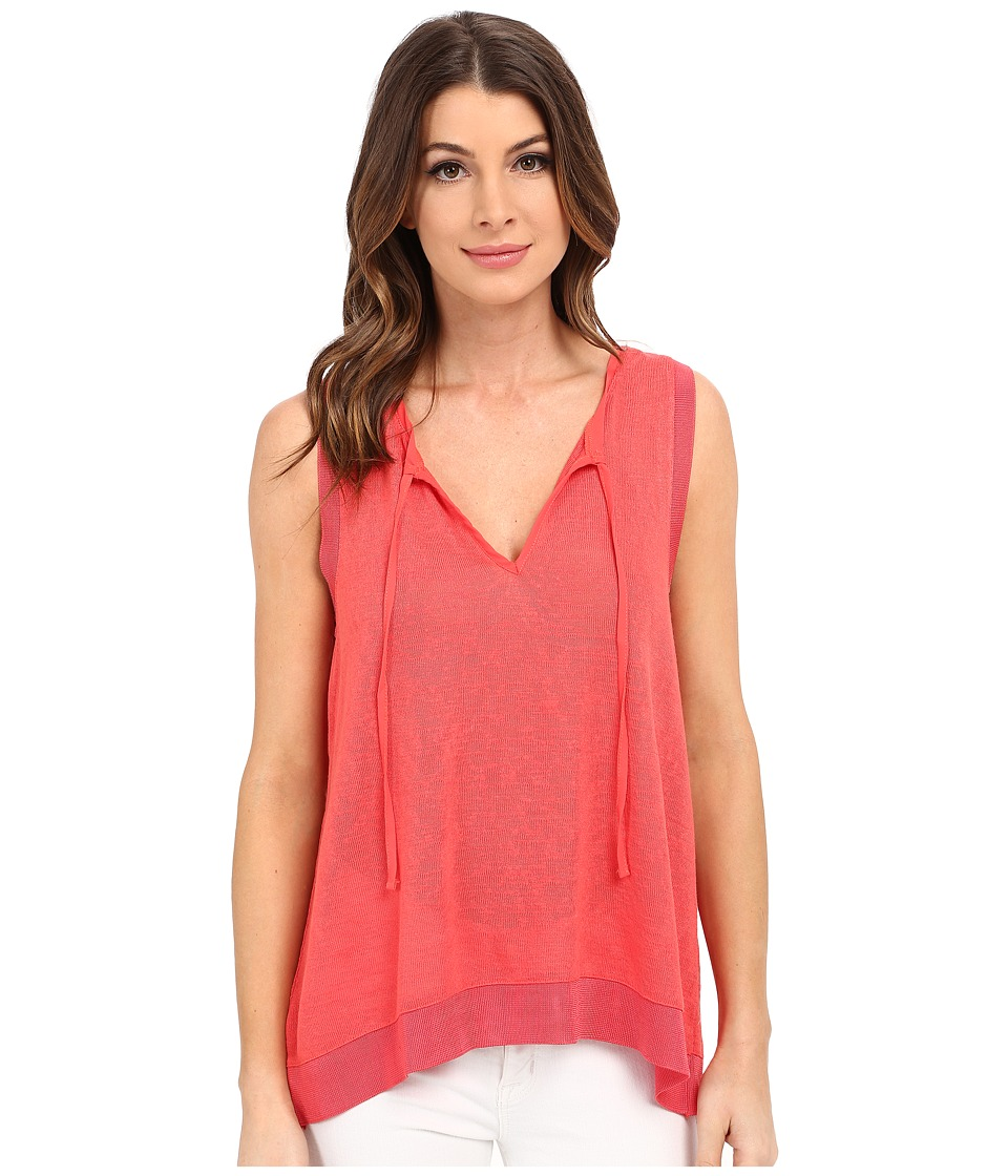 Sanctuary - Clara Tie Tank Top (Liberty Red) Women's Sleeveless