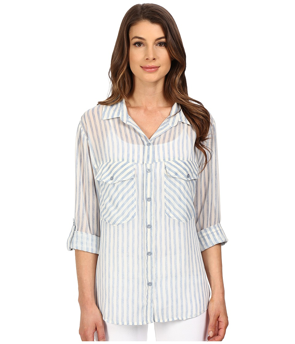 Sanctuary - Boyfriend Shirt (Laundry Stripe) Women's Clothing