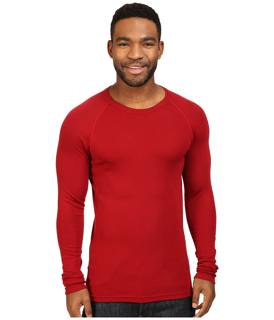 Icebreaker - Everyday Long Sleeve Crewe (Oxblood) Men's Clothing