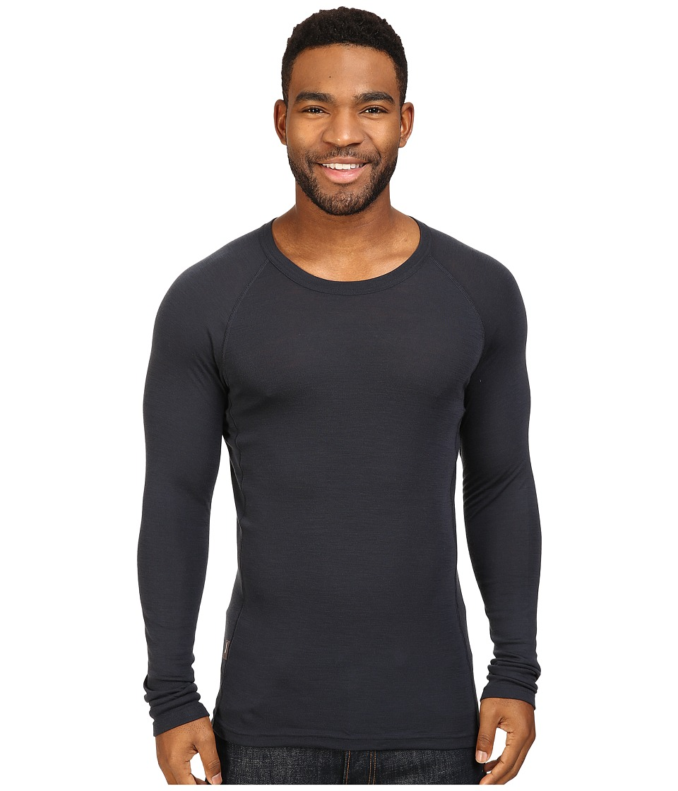 Icebreaker - Everyday Long Sleeve Crewe (Stealth) Men's Clothing