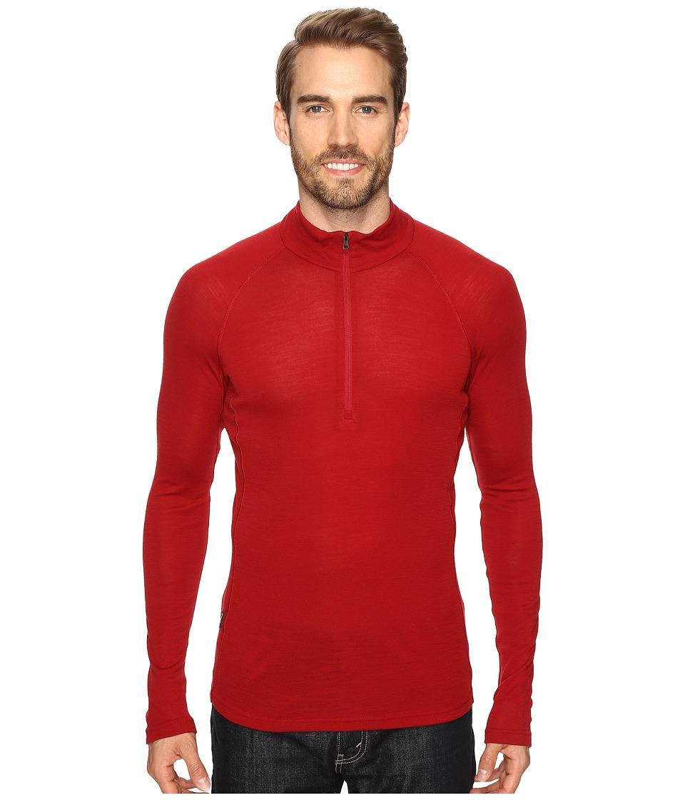Icebreaker - Everyday Long Sleeve Half Zip (Oxblood) Men's Clothing
