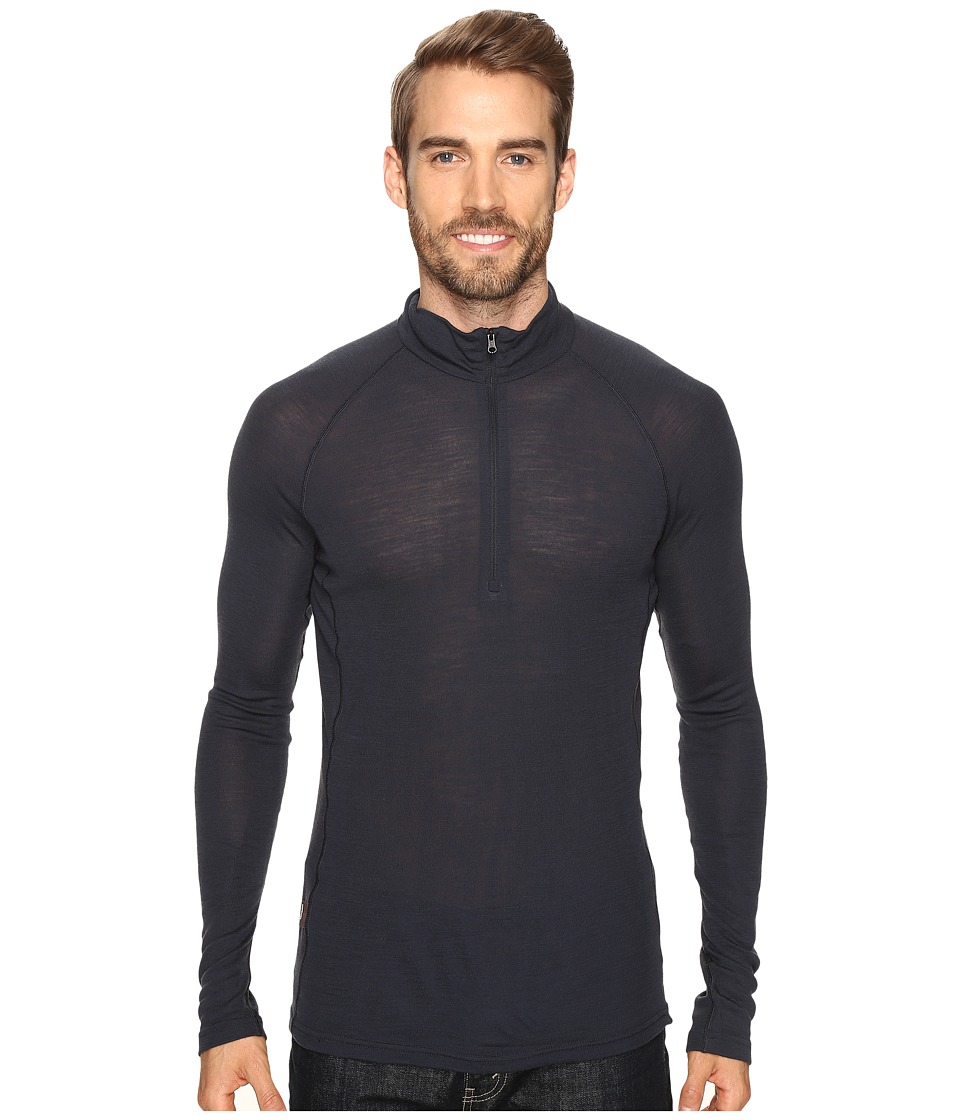 Icebreaker - Everyday Long Sleeve Half Zip (Stealth) Men's Clothing
