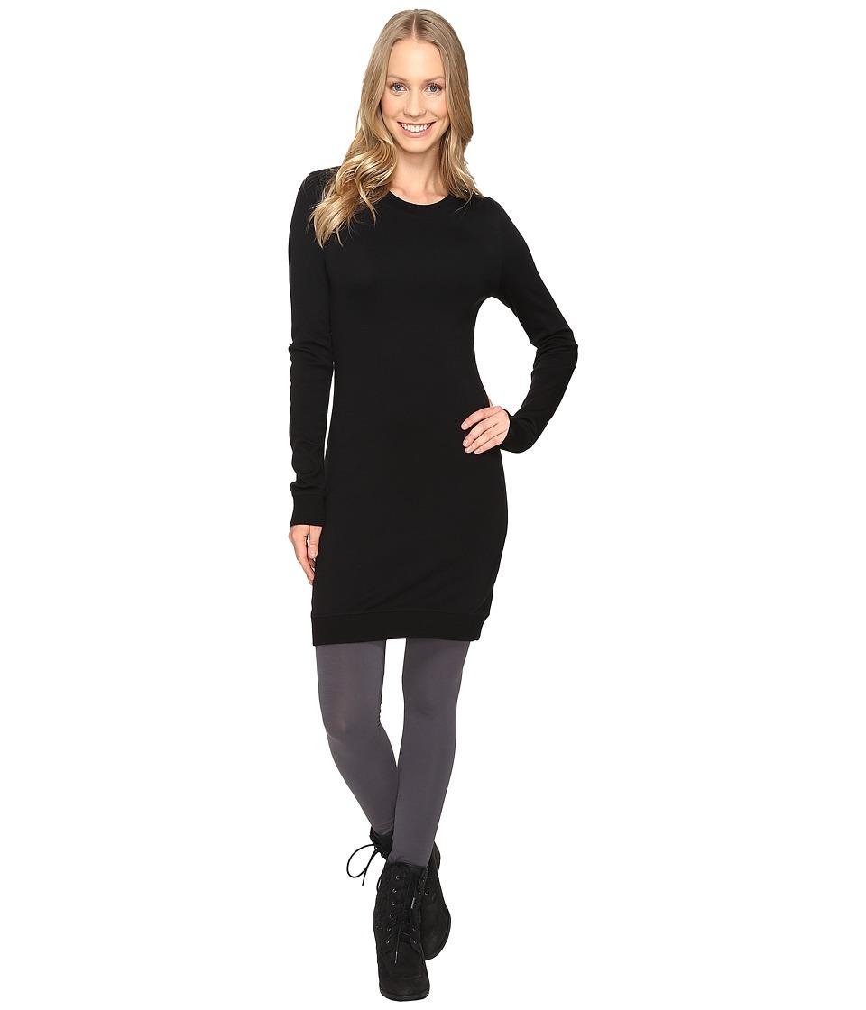 Icebreaker - Meadow Dress (Black/Black/Black) Women's Clothing