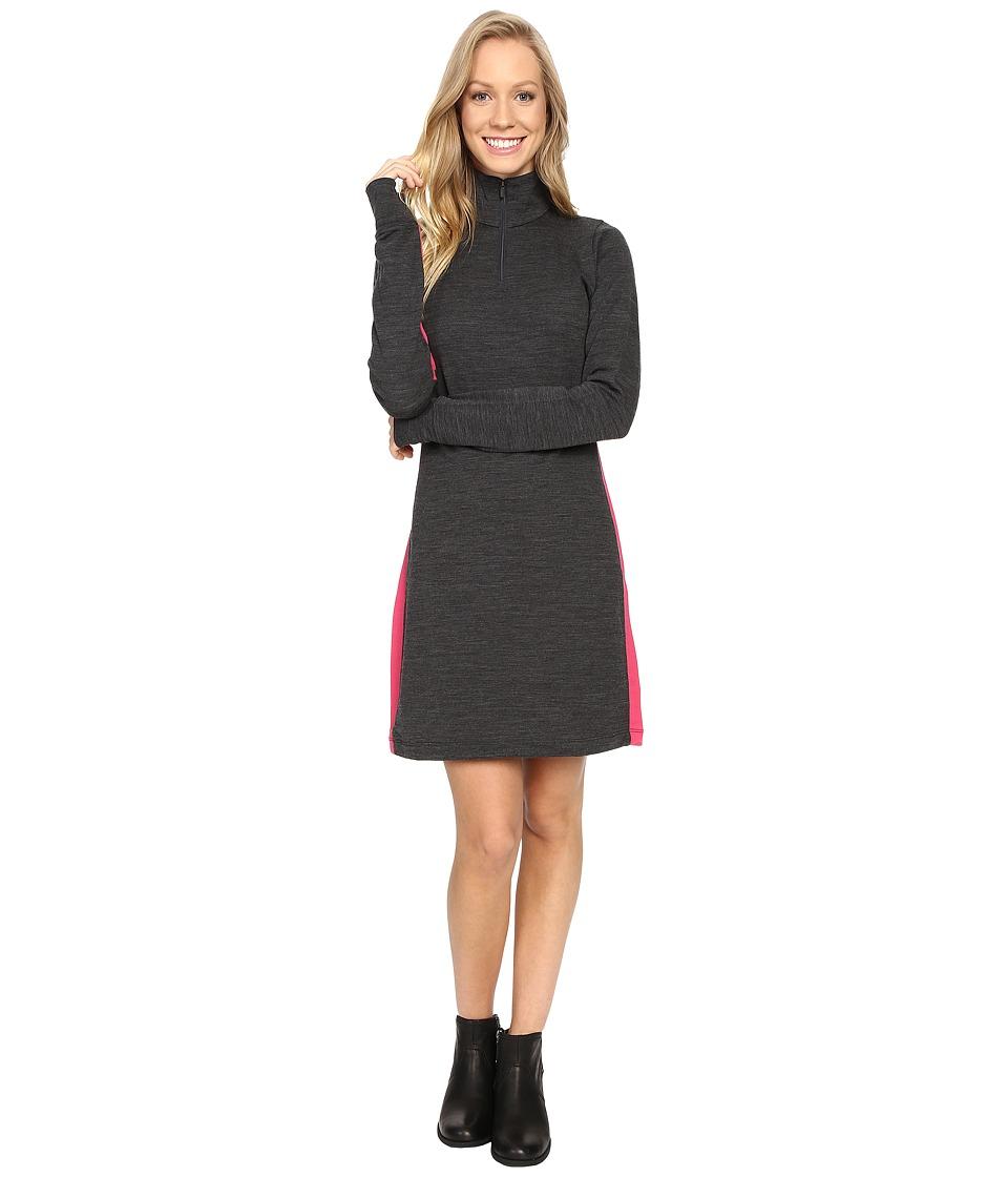 Icebreaker Affinity Dress (Jet Heather/Pop Pink/Jet Heather) Women