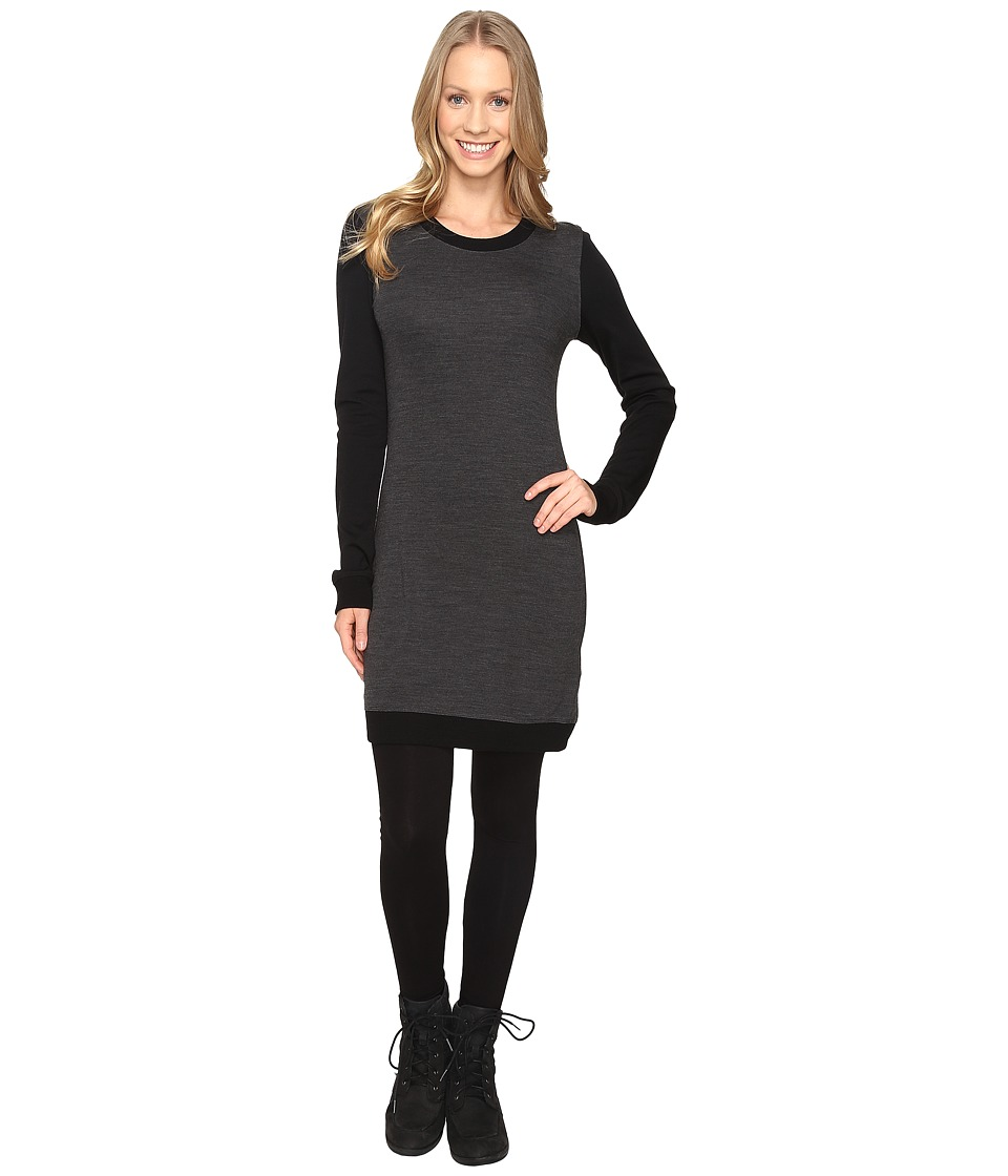 Icebreaker Meadow Dress (Jet Heather/Black/Jet Heather) Women