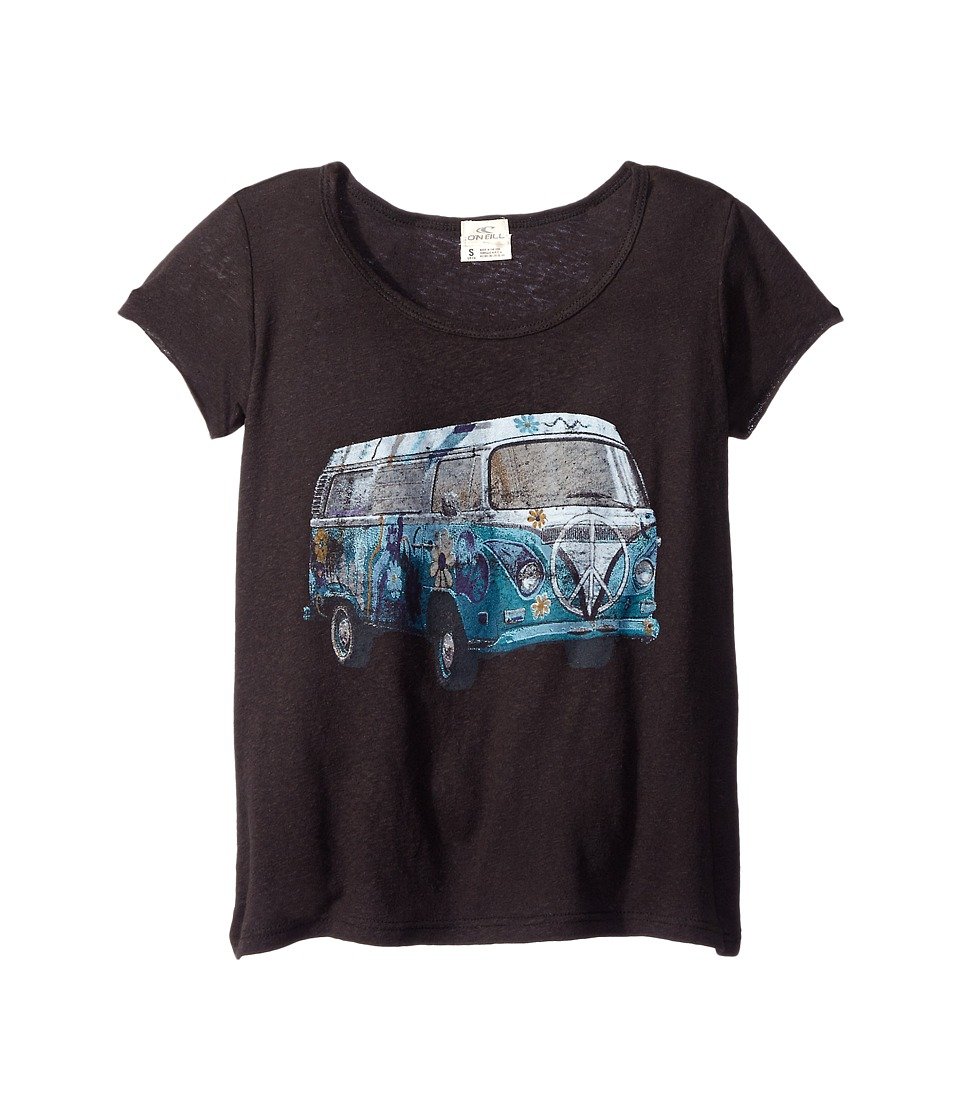 O'Neill Kids - Road Trip Scoop Tee (Little Kids/Big Kids) (Black) Girl's T Shirt