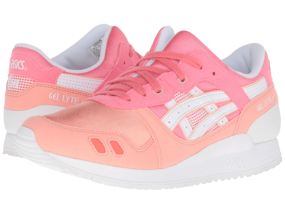 Onitsuka Tiger Kids by Asics - Gel-Lyte III GS (Big Kid) (Guava/White) Girls Shoes