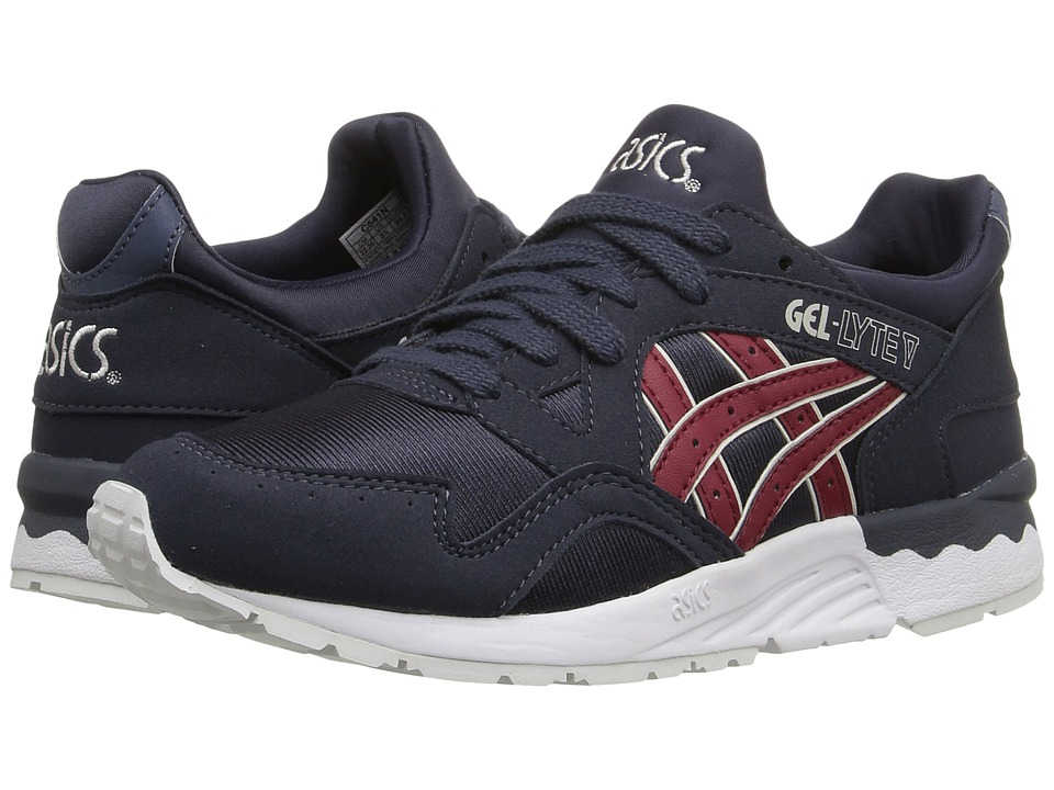 Onitsuka Tiger Kids by Asics - Gel-Lyte V GS (Big Kid) (Indian Ink/Burgundy) Kids Shoes