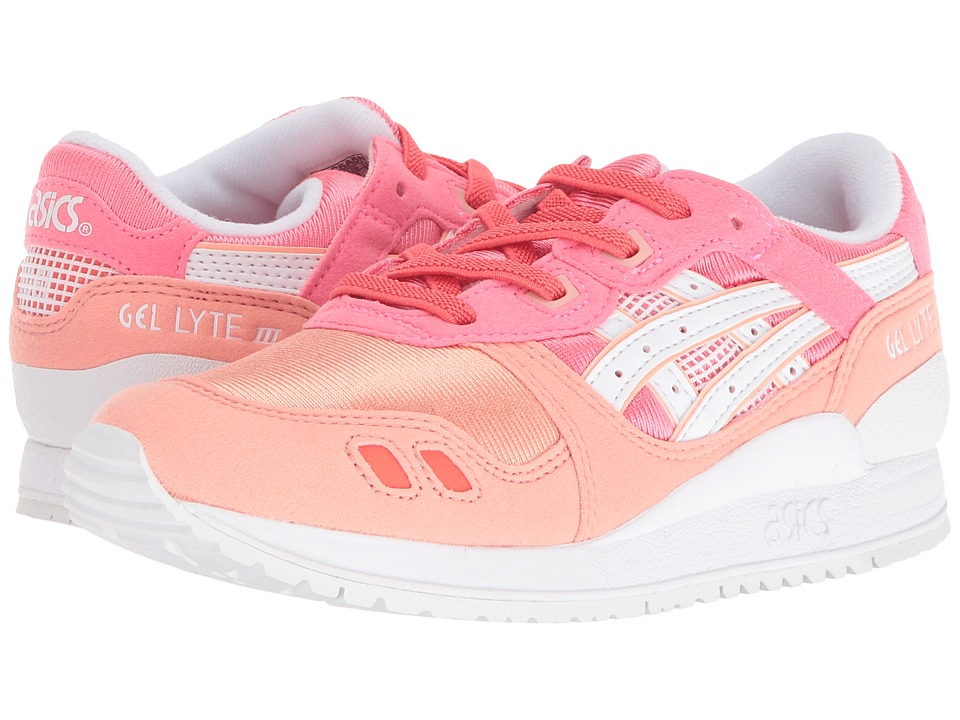 Onitsuka Tiger Kids by Asics - Gel-Lyte III PS (Little Kid) (Guava/White) Girls Shoes