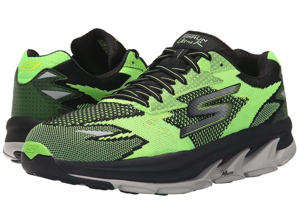 SKECHERS - Go Run Ultra - Road (Lime/Black) Men's Running Shoes
