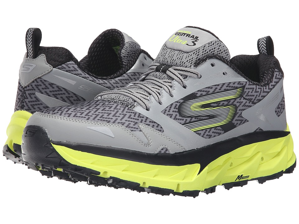 SKECHERS - Go Ultra Trail 3 (Gray/Yellow) Men's Running Shoes